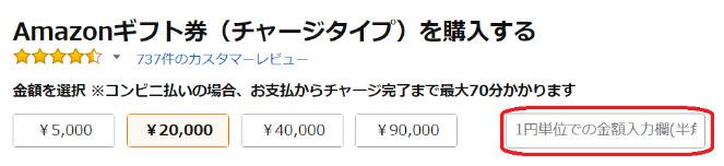 Amazonギフト券購入画像