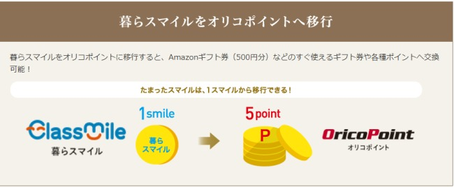 1スマイル→1オリコポイント説明画像
