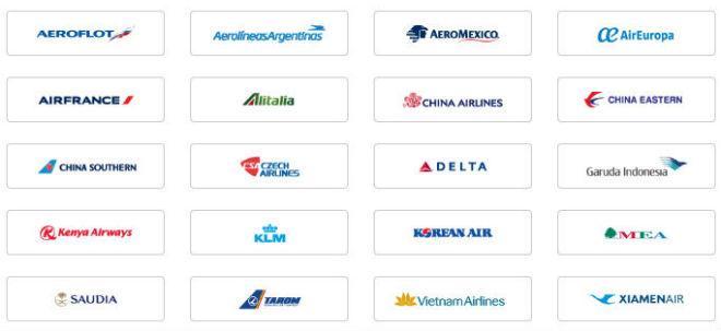 スカイチームアライアンスの航空会社