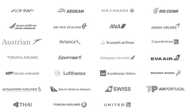 スターアライアンス加盟航空会社ロゴ画像