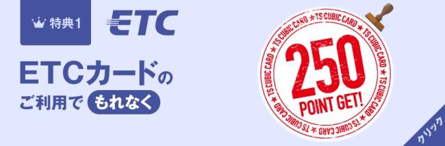 ETCカードで250ポイント説明画像