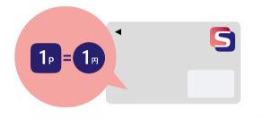 1ポイント=1円で利用可能説明画像