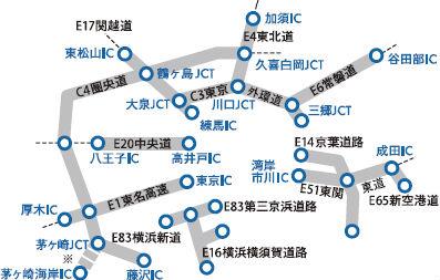 平日朝夕割引対象外エリア(東京近郊)説明画像