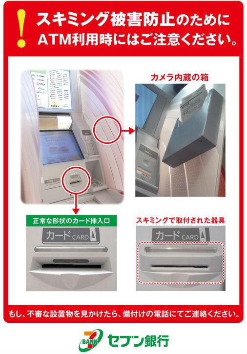 セブン銀行ATMスキミング手口説明画像