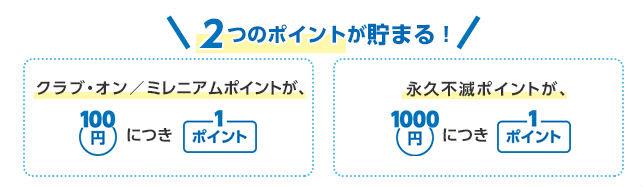 クラブ・オン/ミレニアムカード セゾン2種類のポイント説明画像