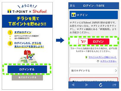 Tポイント×Shufoo!Yahoo! JAPAN ID登録画像