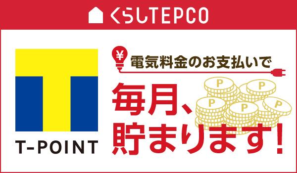 東京電力でTポイント貯まる説明画像