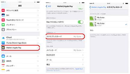 Apple Payエクスプレス設定説明画像