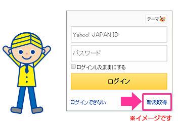 Yahoo!JAPAN ID取得の手続き説明画面