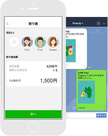 LINE Pay割り勘機能説明画像