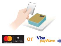 Mastercardコンタクトレス&Visaタッチ説明画像