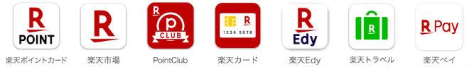 楽天ポイントカードアプリ利用可能アプリ一覧