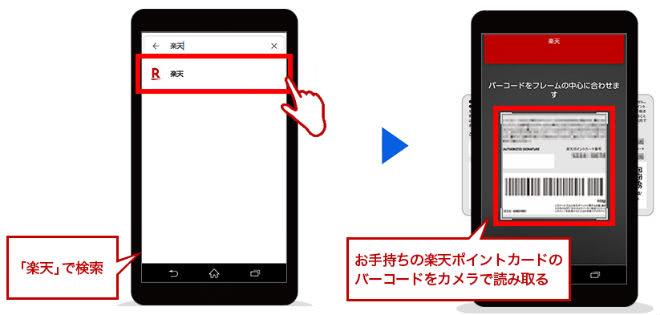 Google Pay(グーグルペイ)楽天ポイントカード設定手順③④