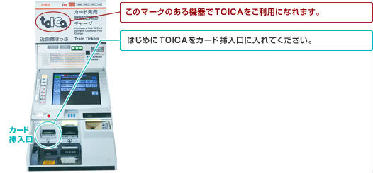 TOICAチャージ可能な自動券売機