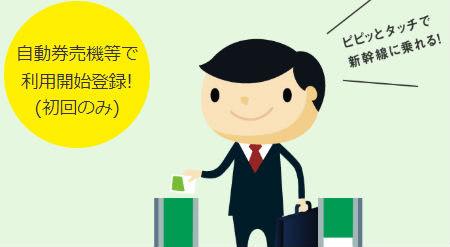 タッチでGo!新幹線改札通る際の説明画像