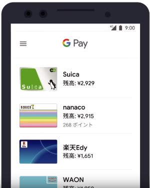 Google Payのチャージ画面