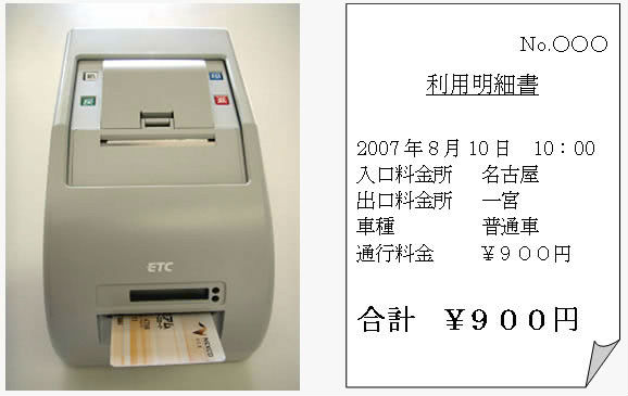 ETC利用明細書