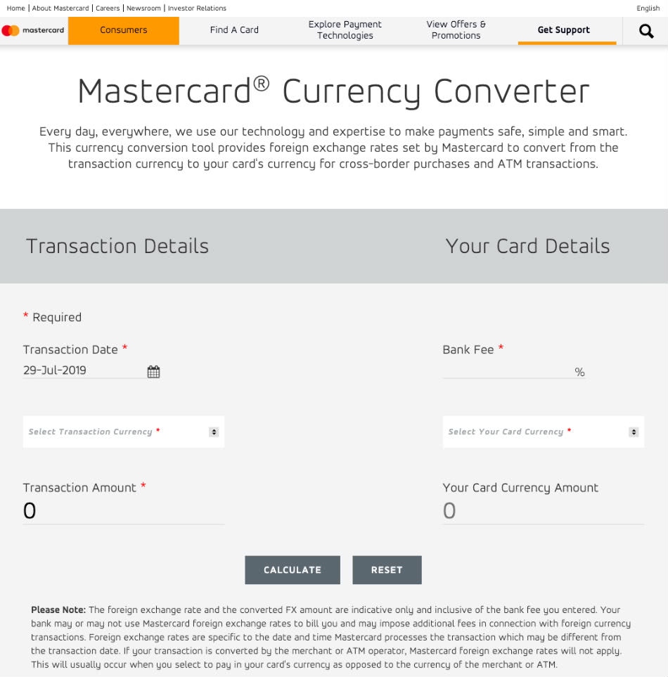 「Currency Converter from Mastercard