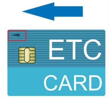 ETCカードの向き