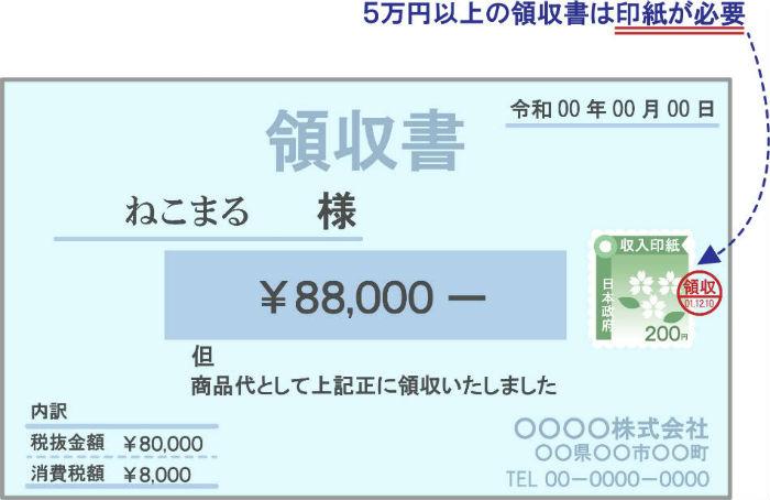 5万円以上は印紙が必要
