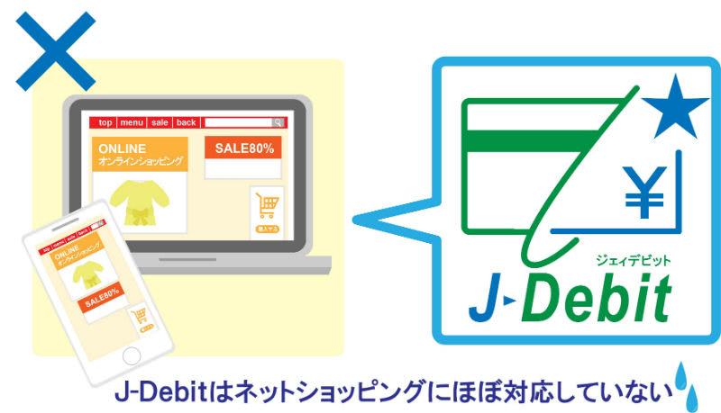 J-Debitは使えない
