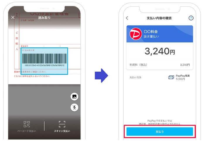 PayPay自動車税納税画面