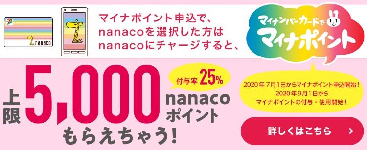 nanacoマイナポイント事業